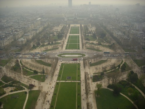 Eiffel Towers Park from the 2nd floor