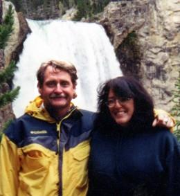 Deb and Butch at Yellowstone falls