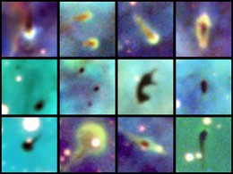 In the Carina nebula exists plenty of proplyds of young stellar systems in formation. The same is true for the Orion nebula where the first ones were found.