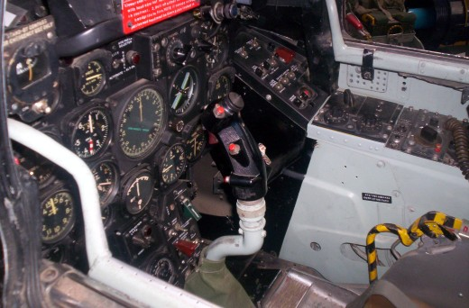 The inside of a cockpit