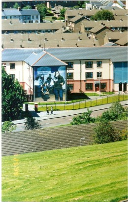 The Bogside as seen from the Derry Wall.
