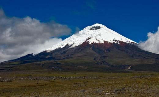 The cotopaxi volcano.