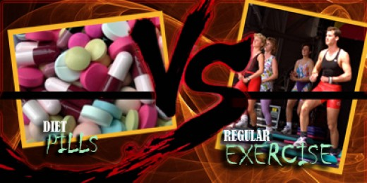 exercise vs diet pills What are the pros and cons of diet pills  a balanced, nutritional diet combined with exercise is the best way to get in shape and keep the pounds off often.