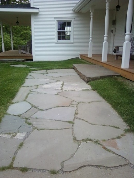 How To Natural Stone Patio And Walkway Building Tips From