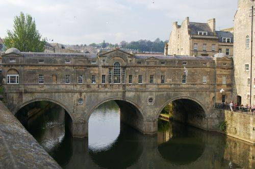 Pulteney Bridge in Bath is like the Palazzo Vecchio in Florence.