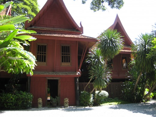 Front of Jim Thompson House - This popular tourist attraction is not far from MBK