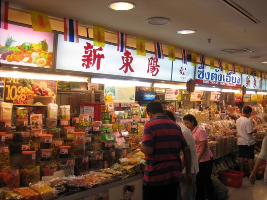 Lots of Thai-Chinese snacks can be bought at MBK too
