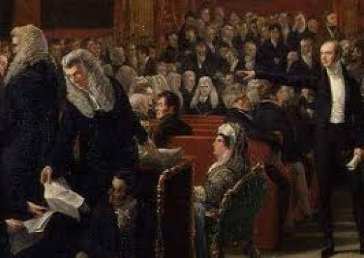 Caroline at her trial in 1820