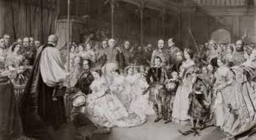 Princess Victoria weds Prince Frederick William of Prussia. A much happier match