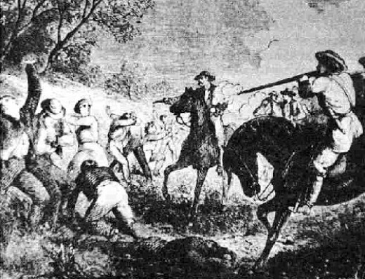 Jayhawkers and Bushwackers fight it out over Kansas becoming a Free-State or a pro-slavery state.