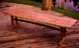 Maple wood bench