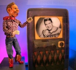 Original Howdy Doody puppet displayed at Detroit Institute of Arts.