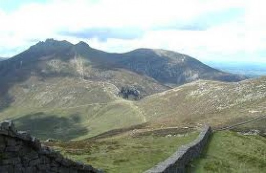 The stunningly wild and beautiful Mourne mountains