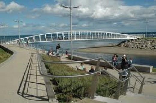 Part of the Promenade at Newcastle