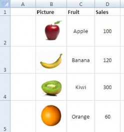 Sort Pictures in an Excel List