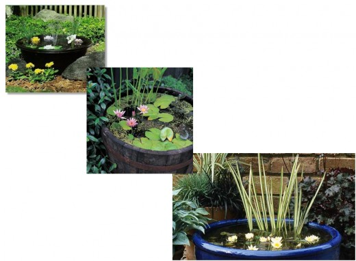 Small DIY Patio Ponds, Using Recyclable Items Found Around The Home