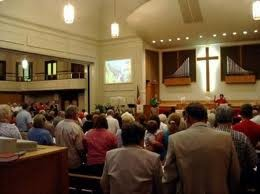 Typical church setting