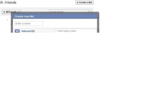 Friends list on FB