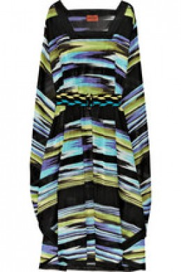 Missoni belted crochet-knit dress