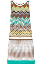 Missoni Labrinto crochet-knit mini dress