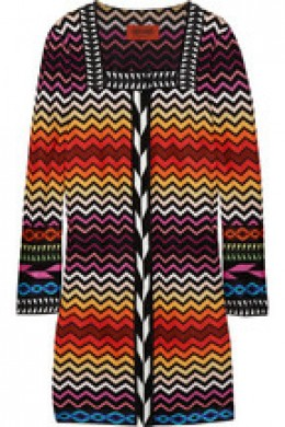 classic Missoni crochet-knit coat