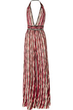 Missoni crocheted cotton-blend halterneck jumpsuit