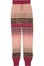 Missoni zigzag crochet knit pants