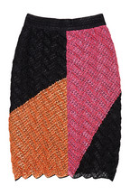 Missoni color block crocheted mesh skirt