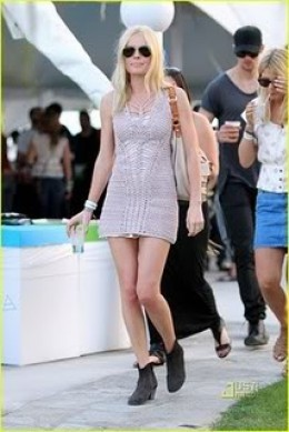 Kate Bosworth in Topshop crochet dress