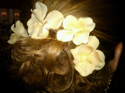 DIY floral hair piece
