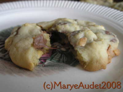Just substitute Reese's Mini Peanut Butter Cups for chocolate chips in chocolate chip cookies for a delicious treat! Image:(c) Marye Audet