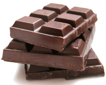 Chocolate contains theobromine and caffeine
