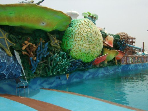 The coral reef attraction at Iceland Waterpark