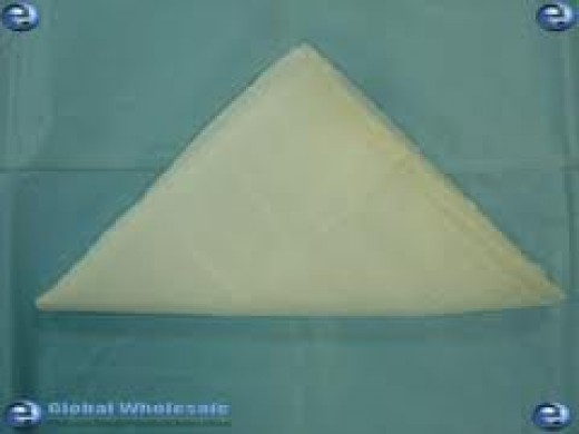 A triangular bandage