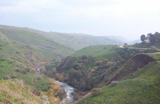 Jordan River near Golan Heights