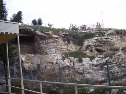 Golgotha?  Near the Garden Tomb.
