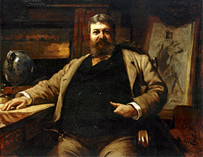 Portrait of H. H. Richardson by H. von Herkomer, in the National Portrait Gallery, Smithsonian Institution, Washington, DC