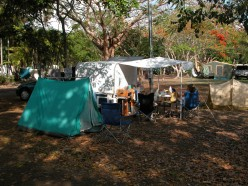 Plenty of roomy camping grounds close to the city provide cheap accommodation. Image by JB