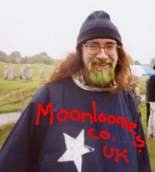 Bard of Ely in wizard robe promoting the Moonloonies