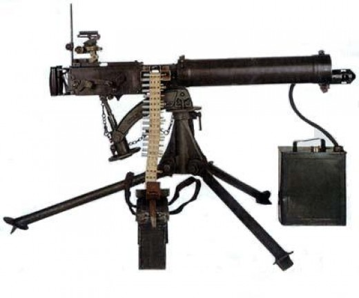 Machine Gun World War 1 Vickers mark 1 machine gun