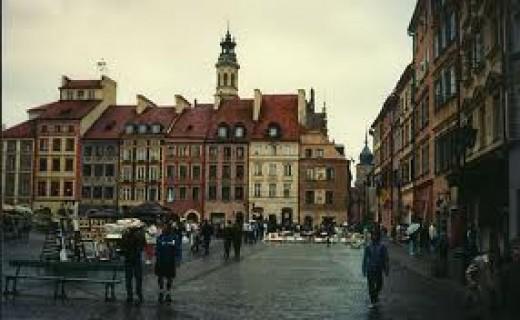 Warsaw. Frederick Chopin was born near here.