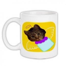 Angel Kitten mug available at Celebrating Cats web store. See link below.