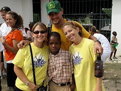 My husband, sister and myself with our parents' sponsored kid with Mission of Hope, Lordens.