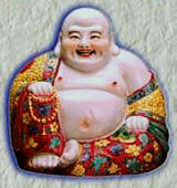"Maitreya-also known as the ""laughing Buddha"" or ""god of happyness."""