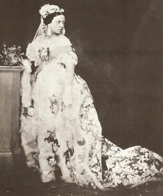 Queen Victoria in Her Wedding Gown For Her Marriage to Prince Albert