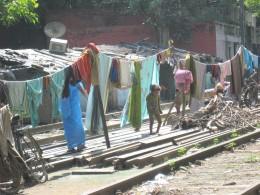 Laundry, child, and women.