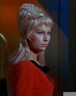 Grace Lee Whitney as Yeoman Janice Rand in Star Trek: The Original Series