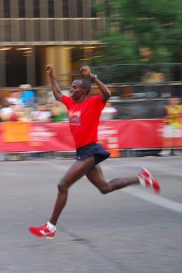 The winner of a Nike+ 2008 race in Austin, Texas
