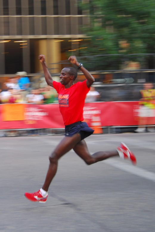 The winner of a Nike+ 2008 race in Austin, Texas