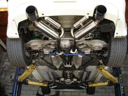 HKS Hi Power exhaust features 304 stainless piping, and includes H Pipe.